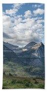 Mt. Oberlin From Logan Pass Beach Towel by Jemmy Archer