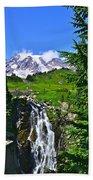 Mt. Rainier From Myrtle Falls Beach Towel