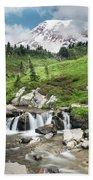 Mt Rainier Paradise Portrait Beach Towel