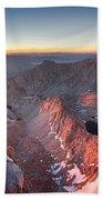 Mt Whitney And Pinnacles Sunrise - John Muir Trail Beach Towel