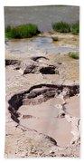Mud Volcano Area In Yellowstone National Park Beach Towel