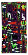 Multi Color Abstract Beach Towel