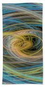 Multi Color Line Art Blue Yellow Gray Green Beach Towel