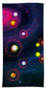Multi-colored Constellation  Beach Towel