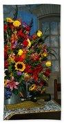 Multicolor Floral Arrangement Beach Towel