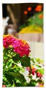 Multicolored Flowers Beach Towel