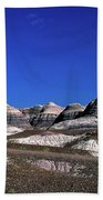 multicolored hills in Petrified Forest National Park Beach Towel
