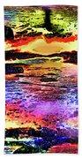 Multiple Underwater Sunsets Beach Towel