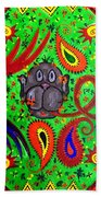 Mun Moji-hookah Monkey Beach Towel