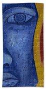 Mural Face Beach Towel