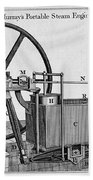 Murrays Portable Steam Engine, 19th Beach Towel