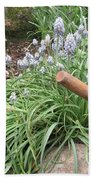 Muscari Blend Blue And White Beach Towel