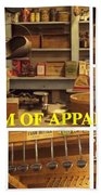 Museum Of Appalachia Block Collage Beach Sheet