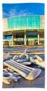 Museum Of Contemporary Art In Zagreb Beach Towel