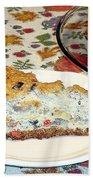 Mushroom And Crab Savory Cheesecake Beach Towel