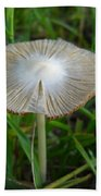 Mushroom In The Grass Beach Towel