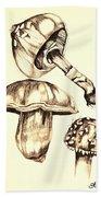 Mushroom Study 4 Beach Sheet