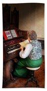 Music - Organist - The Lord Is My Shepherd  Beach Towel