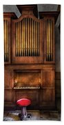 Music - Organist - What A Big Organ You Have  Beach Towel
