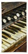 Music - Pump Organ - Antique Beach Towel