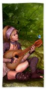 Music In The Woods Beach Towel