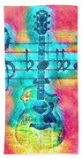 Music Is Everything In Colors Beach Towel