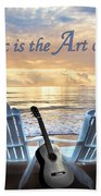 Music Is The Art Of The Soul Beach Towel