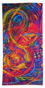 Music Beach Towel by Jeanette Jarmon