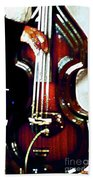 Music Man Bass Violin Beach Sheet