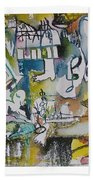 Musical Abstraction  Beach Towel