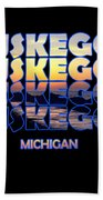 Muskegon Channel Sunset Beach Towel
