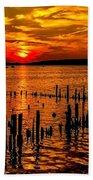 Muskegon Sunset Beach Towel