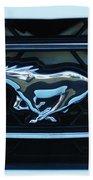 Mustang Emblem Beach Towel