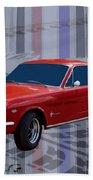 Mustang Poster Beach Towel