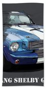 Mustang Shelby Gt-350, Blue And White Classic Car, Gift For Men Beach Towel