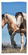 Mustang Twin Stallions Beach Towel