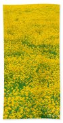 Mustard Flowers Beach Towel