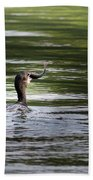 Cormorant - My Catch For The Day Beach Towel