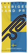 My F1 Anderstorp Race Track Minimal Poster Beach Towel
