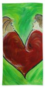 My Funny Valentine Beach Towel by Donna Blackhall