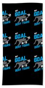 My Goal Is To Deny Yours Goalie Pattern Beach Towel
