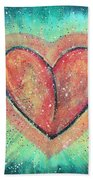 My Heart Loves You Beach Towel