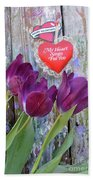 My Heart Sings For You Beach Towel