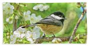 My Little Chickadee In The Cherry Tree Beach Towel