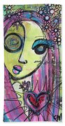 My Love For You Blooms Beach Towel