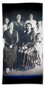 My Mother And Her Family Virginia Minnesota Circa 1919 Beach Towel