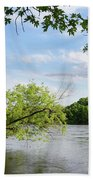 My Place By The River Beach Towel