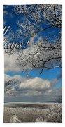 My Sunday Happy Holidays Card Beach Sheet