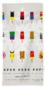 My Superhero Ice Pop - Univers Beach Towel by Chungkong Art
