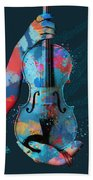 My Violin Whispers Music In The Night Beach Towel by Nikki Marie Smith